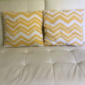 Target Chevron Home Throw Pillows Yellow